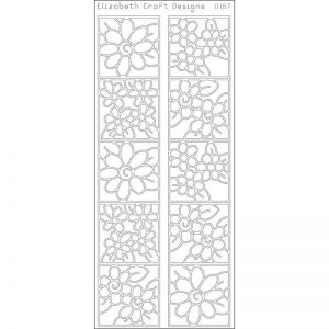 Daisies In Frames Peel-Off Stickers – Gold