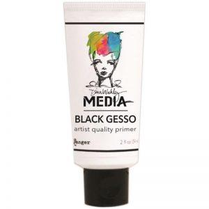 Dina Wakely Media Gesso 2oz Tube – Black