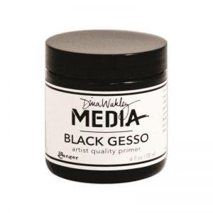 Dina Wakley Gesso 4oz Jar – Black
