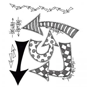 Dyan Reaveley's Dylusions Cling Stamp Collections 8.5″X7″ – Which Way Up