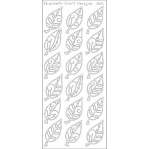 Elegant Leaves Peel-Off Stickers – Gold