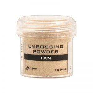 Embossing Powder .56oz Jar – Tan