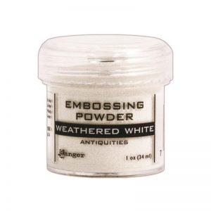 Embossing Powder .56oz Jar – Weathered White