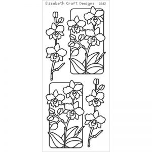 Flowers In Frames 3 Peel-Off Stickers – Gold