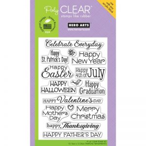 Hero Arts Clear Stamps 4″X6″ Sheet – Celebrate Everyday