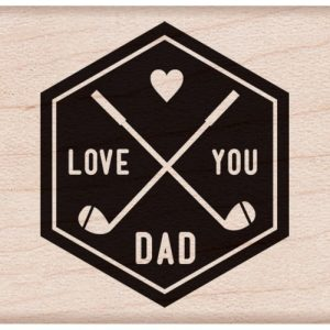 Hero Arts Mounted Rubber Stamps 1.75″X1.75″ – I Love You Dad