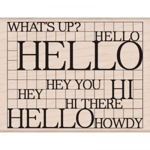Hero Arts Mounted Rubber Stamps 4.25″X3.25″ – Hello Grid