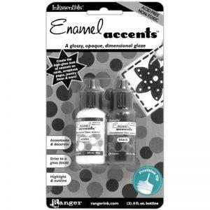 Inkssentials Enamel Accents .5oz 2/Pkg – Black & White