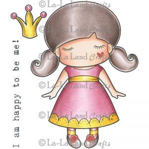 La-La Land Cling Mount Rubber Stamps – Paper Doll Marci Princess