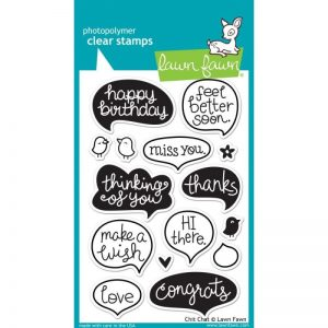 Lawn Fawn Clear Stamps 4″X6″ – Chit Chat