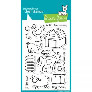 Lawn Fawn Clear Stamps 4″X6″ – Critters On The Farm