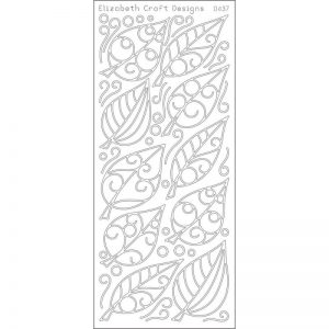 Leaves Peel-Off Stickers – Silver