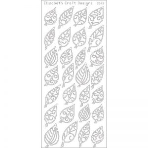 Leaves Small Peel-Off Stickers – Black