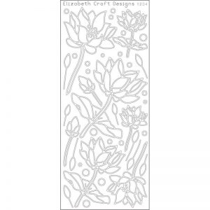Lotus Flowers Peel-Off Stickers – Black