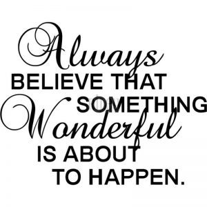 Riley & Company Funny Bones Cling Mounted Stamp 2.5″X2″ – Always Believe That Something Wonderful
