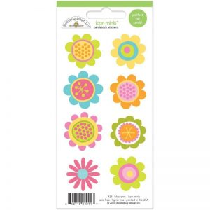 Springtime Mini Cardstock Stickers 3″X6.5″ – Blossoms
