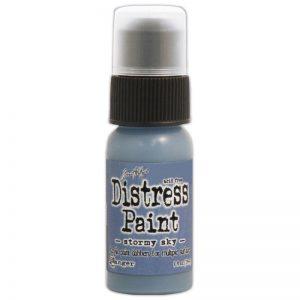 Tim Holtz Distress Paint 1oz Bottle – Stormy Sky