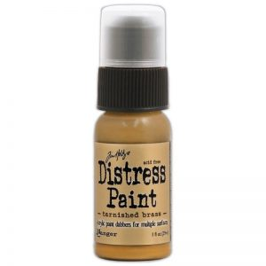 Tim Holtz Distress Paint 1oz Bottle – Tarnished Brass