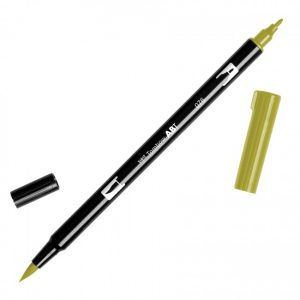 Tombow Dual Brush Marker – 076 Green Ochre