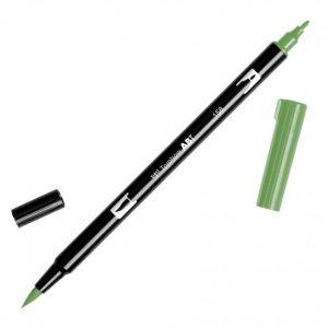 Tombow Dual Brush Marker – 158 Dark Olive
