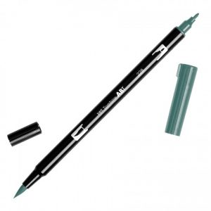 Tombow Dual Brush Marker – 228 Gray Green