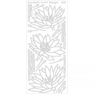 Waterlilies Peel-Off Stickers – Gold