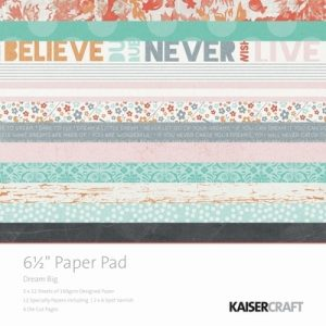 Kaisercraft Dream Big Paper Pad 6.5″x6.5″