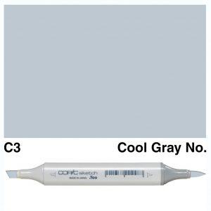 Copic Sketch C3-Cool Gray No.3