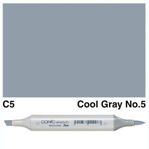 Copic Sketch C5-Cool Gray No.5
