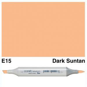 Copic Sketch E15-Dark Suntan