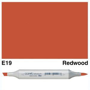 Copic Sketch E19-Redwood