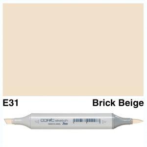 Copic Sketch E31-Brick Beige