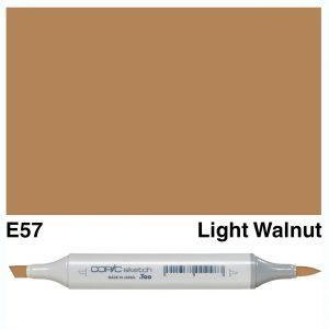 Copic Sketch E57-Light Walnut