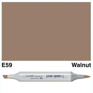 Copic Sketch E59-Walnut