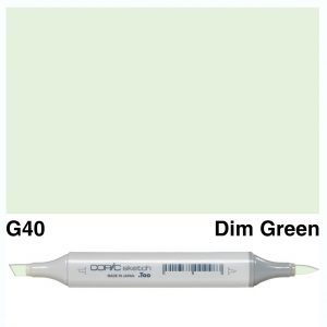 Copic Marker Sketch G40 Dim Green