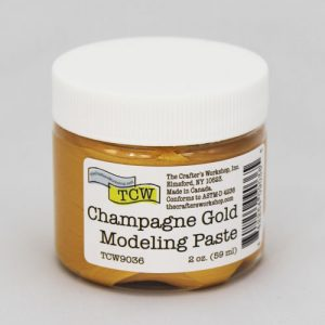 The Crafter's Workshop Champagne Gold Modeling Paste 2 Oz