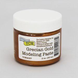 The Crafter's Workshop Grecian Gold Modeling Paste 2 oz.