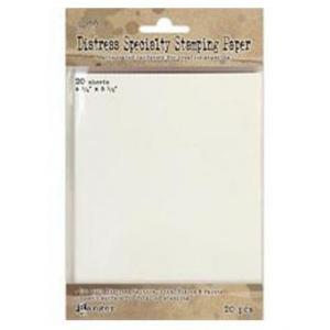 "TH Distress Specialty Stamping Paper 4.25"" x 5.5"", 20pc"